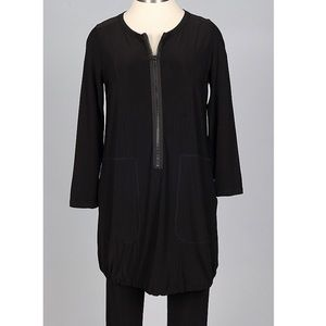 Sun kim London zip up black tunic